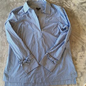 Talbots Blue and White Striped Blouse (NEW)